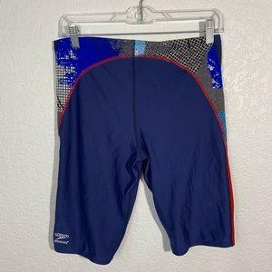 Speedo Swim - Speedo Endurance Swim Shorts Blue Red 34